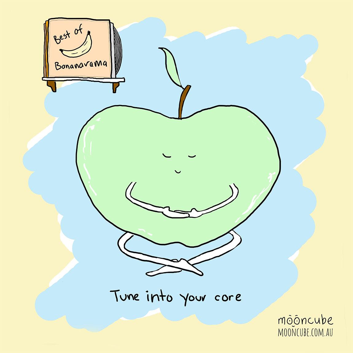 mooncube Artist, Cartoonist. Apple meditation.