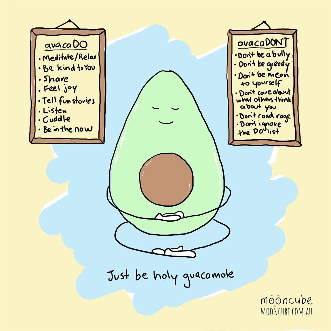 mooncube Artist, Cartoonist. Avocado meditating.